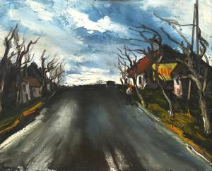 Maurice DE VLAMINCK - Peinture - Route de Beauce