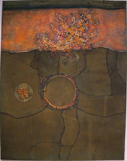 Jean-Jacques CONDOM - Pittura - La nuit à la peau des bourgeons de chêne