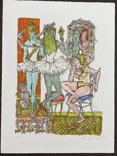 Alois CARIGIET - Grabado - Garderobe