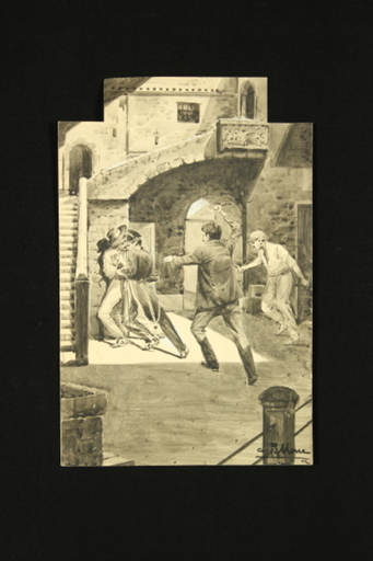Cesare TALLONE - Drawing-Watercolor - Carabiniere