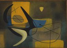 """Servando CABRERA MORENO - Pintura - """"Composition jaune"""""""