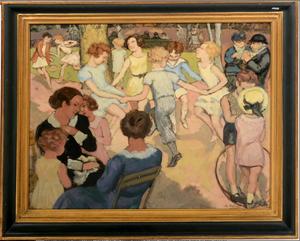 Charles NAILLOD - Painting - Au Jardin public