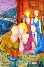 Valerio BETTA - Painting - Cena sul Garda- Dinner on Garda lake