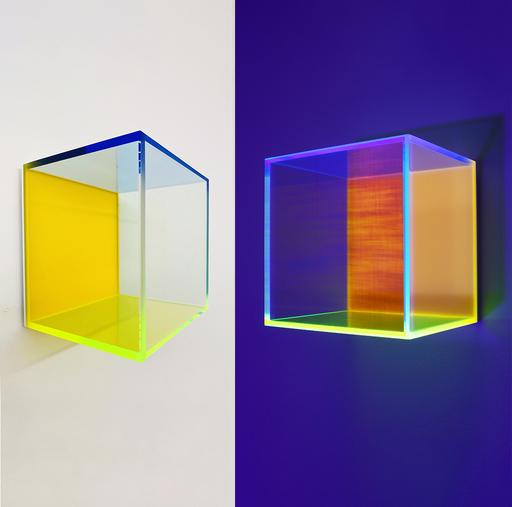 Regine SCHUMANN - 雕塑 - Colormirror rainbow satin orange Milan