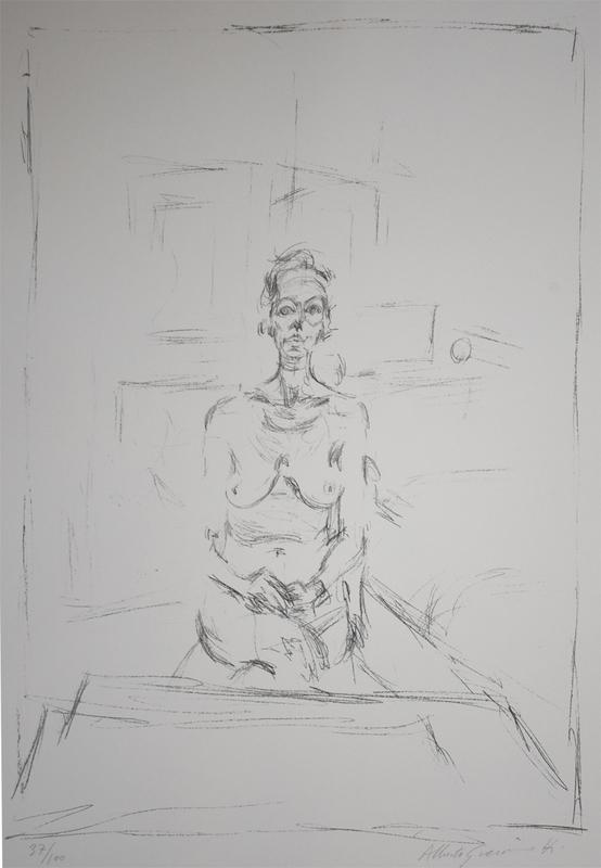 Alberto GIACOMETTI - Grabado - Seated Nude | Nu Assis