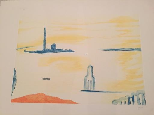Virgilio GUIDI - Estampe-Multiple - paesaggio