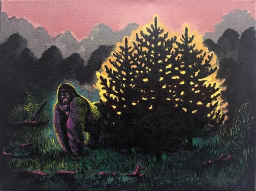 Damir MURATOV - Painting - Gorilla