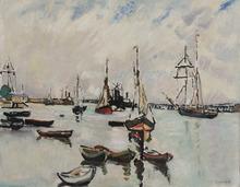 路易斯·瓦尔塔 - 绘画 - Le port d'Ouistreham