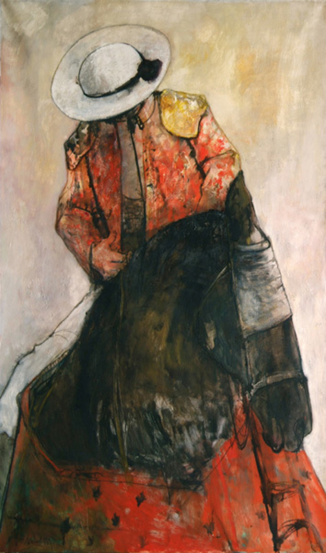 Jean JANSEM - Pittura - Picador écarlate
