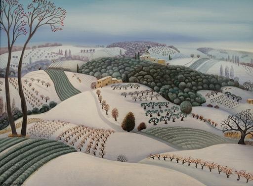 F.B. BAUMGARTEN - Painting - Hiver aux Ramières