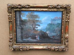 Pierre Antoine PATEL - Pintura - Classical landscape with figures
