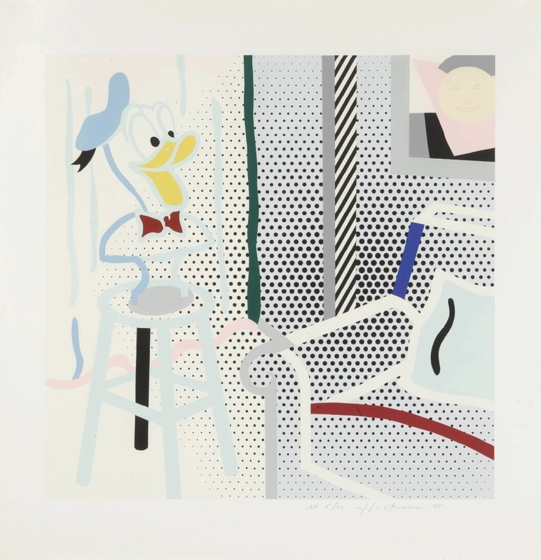 Roy LICHTENSTEIN - Stampa-Multiplo - Virtual Interior - Portrait of a Duck