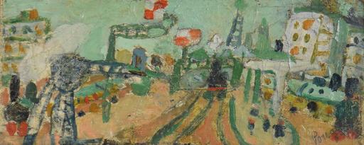 Jean POUGNY - Pintura - Paysage de Paris (Le Ligne de Chemin de Fer)
