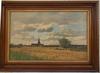 Jacques Alfred BRIELMAN - Pittura - Village au milieu des champs