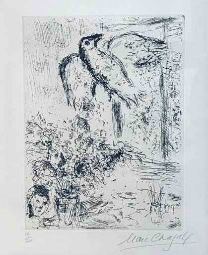 Marc CHAGALL - Grabado - Nature Morte au Grand Oiseau