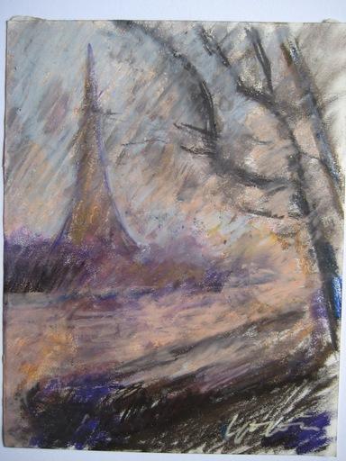 Pierre GOGOIS - Drawing-Watercolor - 4 DESSINS AU PASTEL GRAS SIGNÉS 4 SIGNED PASTEL DRAWINGS