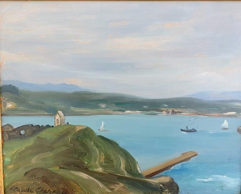 """Claude CHEREAU - Painting - """"LA BAIE DE SAINT-JEAN DE LUZ"""""""