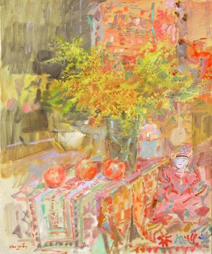 Julián GRAU SANTOS - Painting - Granadas y Mimosas