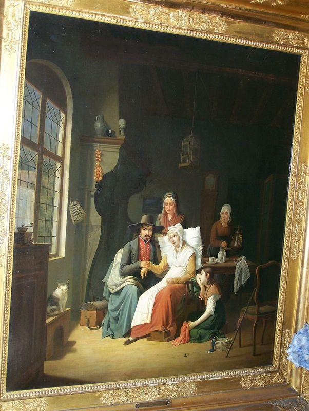 Jozef GEIRNAERT - Painting - doctors visit