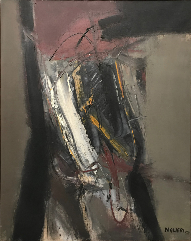Tino VAGLIERI - Pittura - Interno, 1958