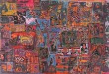 Ovadia ALKARA - Painting - Stamps