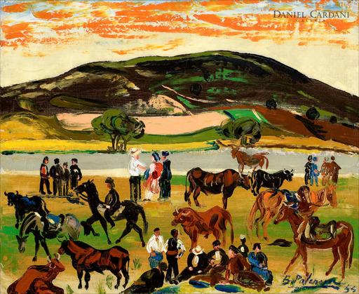 Benjamín PALENCIA PEREZ - Gemälde - Feria