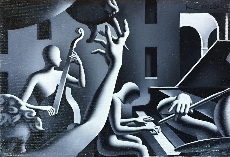Mark KOSTABI - Painting - Notturno