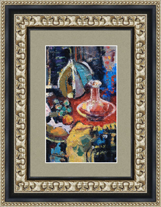 Levan URUSHADZE - Peinture - Sill life with glass decanter