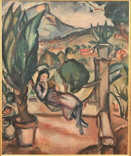 Emile Othon FRIESZ - Painting - Jeune fille dans un hamac