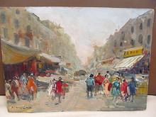 Francesco DIMARINO - Pintura - Strassenszene - Napoli