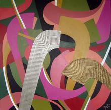 Brigitte THONHAUSER-MERK - Pintura - Abstraction en Rose & Vert