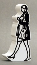 Julian OPIE - Sculpture-Volume - Walking in the city 6