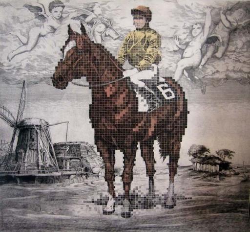 Fernando BELLVER - Print-Multiple - Crónica de una carrera. Murillo, Rembrandt & Chuck Close