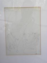 Léopold SURVAGE - Dessin-Aquarelle - suite de 4 dessins sur le theme de la femme et du cheval