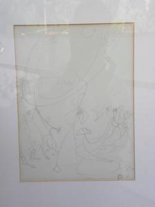 Léopold SURVAGE - Disegno Acquarello - suite de 4 dessins sur le theme de la femme et du cheval
