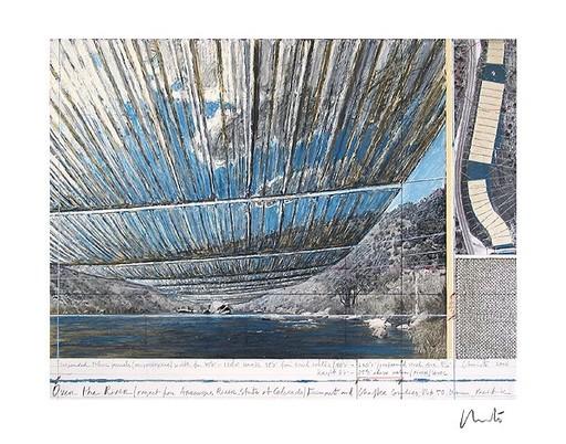 CHRISTO - Print-Multiple - Over The Arkansas River, Project U