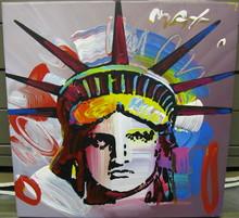 Peter MAX - Pintura - Liberty Head
