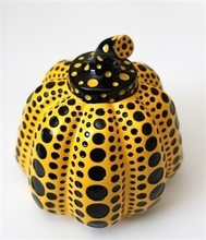 Yayoi KUSAMA - Sculpture-Volume - Pumpkin (Yellow/Black)