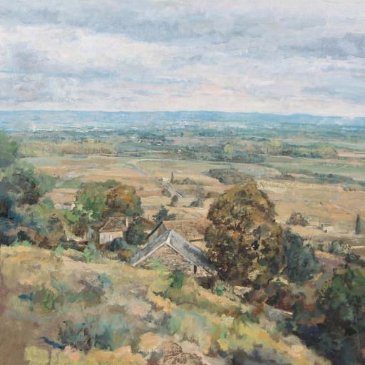André BOUBOUNELLE - Painting -  Au-dessus de la Vallée,  2020