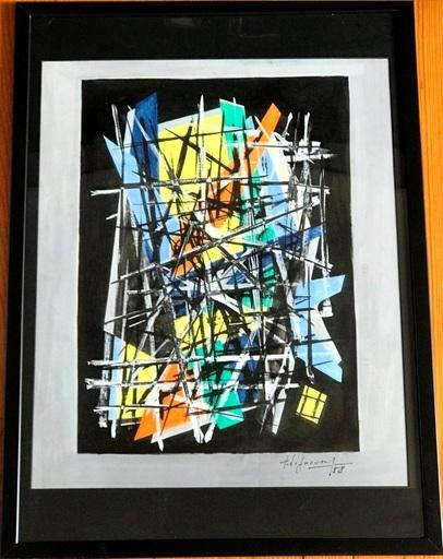 "Jean SIGNOVERT - Gemälde - ""Le vieil Homme »  « The old man »"