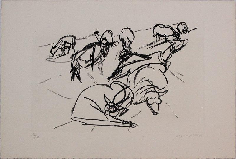 Jacques VILLON - Druckgrafik-Multiple - Untitled