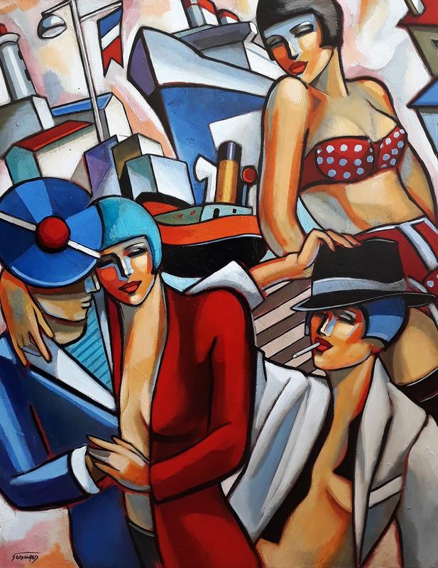 Stéphane GISCLARD - Peinture - Lili et le marin