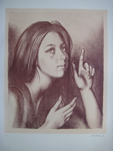 Gregorio SCILTIAN - Grabado - LITHOGRAPHIE SIGNÉE CRAYON PA HANDSIGNED PA LITHOGRAPH RUSSE