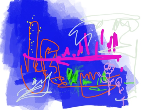 Nicole LEIDENFROST - Druckgrafik-Multiple - Traum in blau