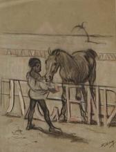 "Ferdinand MAY - 水彩作品 - ""Friends"" by Ferdinand May, 1900's"