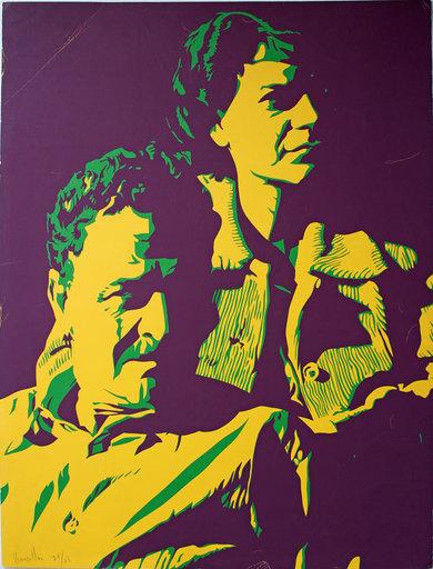 Bernard RANCILLAC - Stampa-Multiplo - Portrait de Nazim Hikmet et sa femme