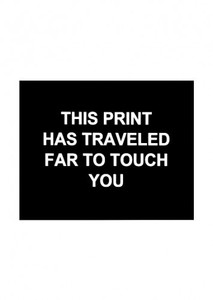 Laure PROUVOST - Estampe-Multiple - This print has traveled far to touch you