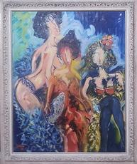 José María BARREIRO - Pintura - niñas en el camerino