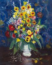 Charles CAMOIN - Pintura - Fleurs dans un vase blanc