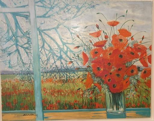 MICHEL-HENRY - Gemälde - Fleurs dans un vase
